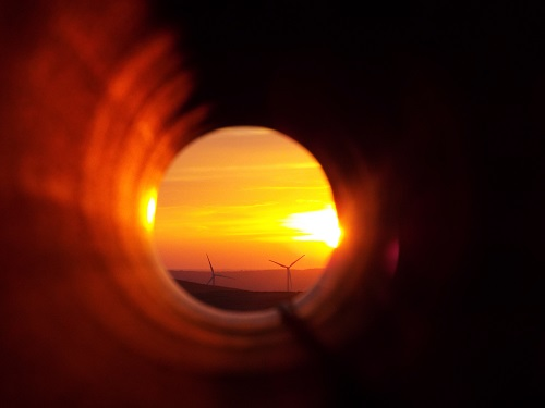 Heat decarbonisation - Tunnel in sunset vision