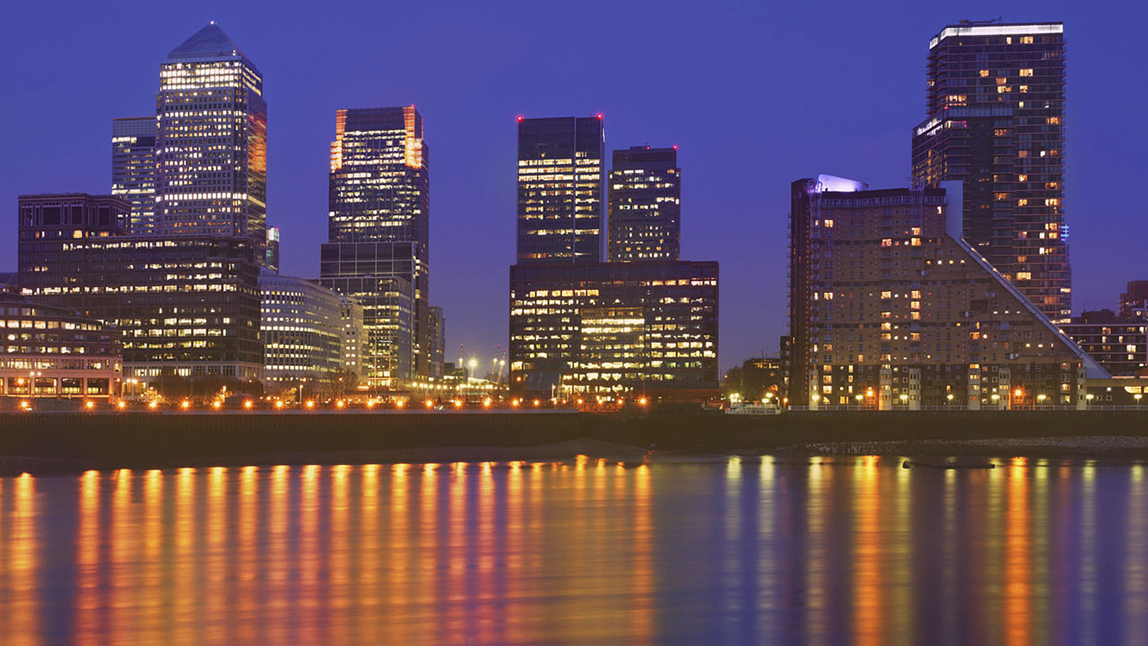 Canary wharf at night - LowRes Getty