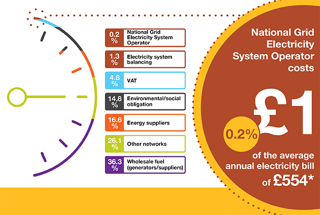 Electricity System Operator Costs 1 Of The Average Annual Household Bill