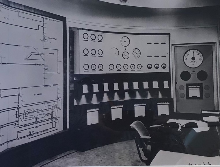 National Grid ESO- Control Room - motherboard historic photo