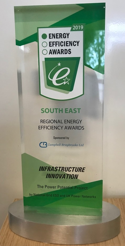 Energy Efficiency Award 2019 Trophy
