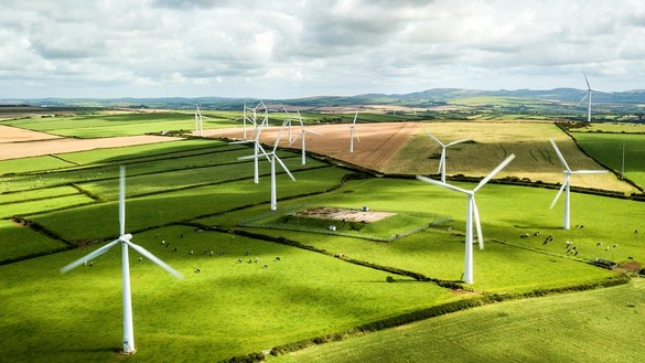 National Grid ESO - net zero explained - wind farm in sunshine