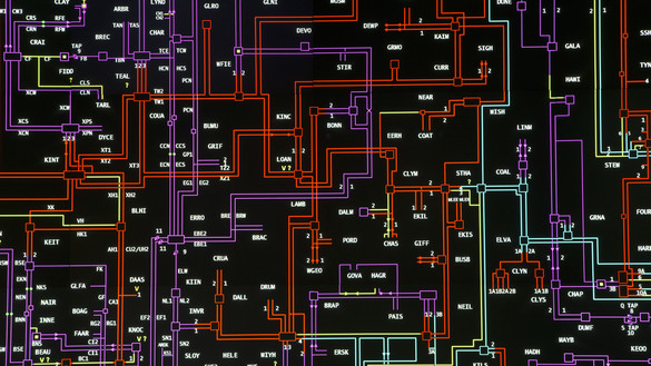 A mapped network of different piping
